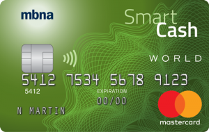 mbna smart cash world mastercard