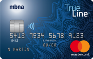 mbna trueline mastercard