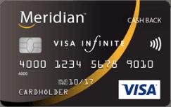 meridian cash back infinite visa