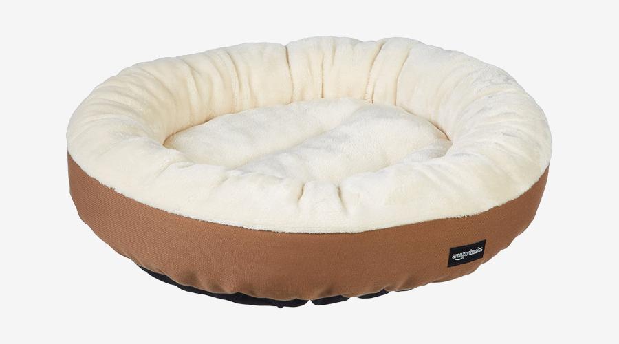 Amazon Basics Round Bolster Dog Bed