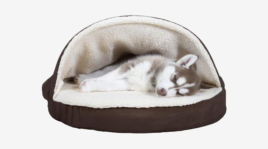 Furhaven Faux Sheepskin Dog Bed