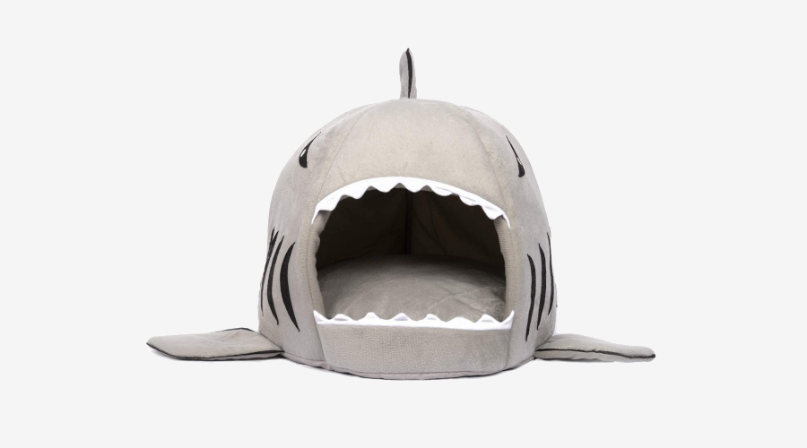 Hey Paws Cartoon Shark Dog Bed